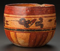 Pre-Columbian:Ceramics, A MAYA BOWL PAINTED WITH HUMMINGBIRDS AND WATER LILIES . c. 600 -900 AD...