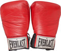 Boxing Collectibles:Memorabilia, 1986 Mike Tyson Fight Worn Gloves from Zouski Bout....