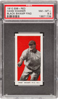 "Baseball Cards:Singles (Pre-1930), 1910 E98 ""Set of 30"" Honus Wagner, Red PSA NM-MT+ 8.5 Black SwampFind - The Final NM/MT+! ..."
