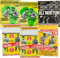 Boxing Collectibles:Memorabilia, 1970's Muhammad Ali Closed Circuit Fight Posters Lot of 6....