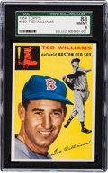 Baseball Cards:Singles (1950-1959), 1954 Topps Ted Williams #250 SGC 88 NM/MT 8....