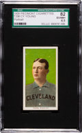 Baseball Cards:Singles (Pre-1930), 1909-11 T206 Piedmont Cy Young, Portrait SGC 82 EX/NM+ 6.5. ...