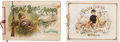 Non-Sport Cards:Singles (Pre-1950), 1880's Allen & Ginter A9 Game Birds and A12 Racing ColorsAlbums Pair (2). ...