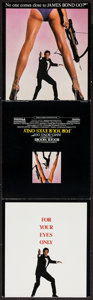 "Movie Posters:James Bond, For Your Eyes Only (United Artists, 1981). Program (3 Pages) (8.5""X 9.5""). James Bond.. ..."