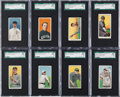 Baseball Cards:Lots, 1909-11 T206 White Borders Baseball SGC 80 EX/NM 6 Collection (8)....