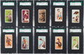 "Boxing Cards:General, 1909-1910 ""E"" Caramel Boxing SGC Graded Collection (37) With Sullivan & Johnson. ..."