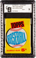 Baseball Cards:Unopened Packs/Display Boxes, 1960 Topps Baseball 2nd Series Wax Pack GAI Mint 9. ...
