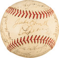 Baseball Collectibles:Balls, 1938 New York Yankees Team Signed Baseball. ...