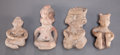 Pre-Columbian:Ceramics, Four Preclassic Miniature Seated Figures ... (Total: 4 )
