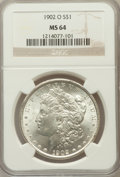Morgan Dollars: , 1902-O $1 MS64 NGC. NGC Census: (27204/6875). PCGS Population(19659/4613). Mintage: 8,636,000. Numismedia Wsl. Price for p...