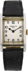 Timepieces:Wristwatch, Patek Philippe & Co. Early Two Tone Gold & Enamel Gent'sWristwatch, circa 1912. ...