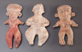 Pre-Columbian:Ceramics, Three Solid Preclassic Miniature Figures ... (Total: 3 )