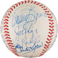 Autographs:Baseballs, 1948 New York Yankees Team Signed Baseball, PSA/DNA NM+ 7.5....