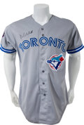 Baseball Collectibles:Uniforms, 1992 Dave Winfield Game Worn Toronto Blue Jays World Series Jersey....