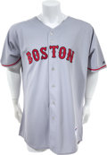 Baseball Collectibles:Uniforms, 2008 Josh Beckett Game Worn Boston Red Sox Jersey. ...