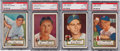 Baseball Cards:Lots, 1952 Topps High Numbers PSA Graded Collection (4). ...