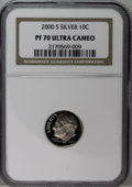 Proof Roosevelt Dimes: , 2000-S 10C Silver PR70 Deep Cameo NGC. NGC Census: (605/0). PCGSPopulation (65/0). Numismedia Wsl. Price: $200. (#95291)...