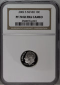 Proof Roosevelt Dimes: , 2002-S 10C Silver PR70 Ultra Cameo NGC. NGC Census (335/0). PCGSPopulation (60/0). Numismedia Wsl. Price: $160. (#95301)...
