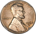 Errors, 1964-D Lincoln Cent -- Struck on a Dime Planchet -- MS64 NGC....