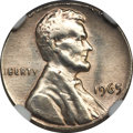 Errors, 1965 1C Lincoln Cent -- Struck on a Silver Dime Planchet -- AU58NGC....