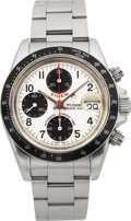 """Timepieces:Wristwatch, Tudor Ref. 79260P """"Tiger"""" Oyster Prince Date Automatic Chronograph, circa 2006. ..."""