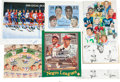 Autographs:Others, 1980's-90's Sports Legends Multi-Signed Prints Lot of 10....