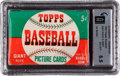 Baseball Cards:Unopened Packs/Display Boxes, 1952 Topps Baseball 1st Series Five Cent Unopened Wax Pack GAIEX-MT+ 6.5. ...
