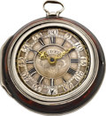Timepieces:Pocket (pre 1900) , J.F. Winkler Breslau (Wroclaw Silesia) Polish Repousse Silver PairCased Verge, circa 1780. ...