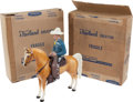 "Non-Sport Cards:Other, Early 1950's Western ""Champ"" Hartland Statue Pair (2) - One StillSealed in Original Box. ..."