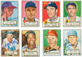 Baseball Cards:Autographs, 1952 Topps Baseball Signed Cards Lot of 53. ...