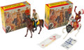 Non-Sport Cards:Other, Vintage Hartland Statues - Wyatt Earp & Chief ThunderbirdStatues and Boxes Pair (2). ...
