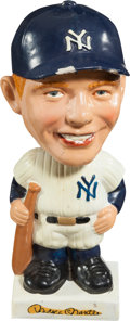 Baseball Collectibles:Others, 1961-63 Mickey Mantle White Base Nodder. ...