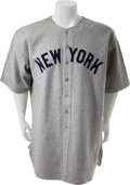 Baseball Collectibles:Uniforms, 1935 Babe Ruth's Final New York Yankees Jersey & Uniform Player's Contract....