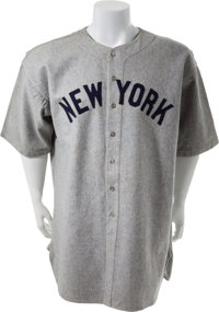 1935 Babe Ruth's Final New York Yankees Jersey & Uniform Player's Contract
