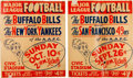 Football Collectibles:Others, 1948 Buffalo Bills A.A.F.C. Broadsides Lot of 2....