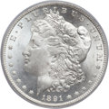 Morgan Dollars, 1891-CC $1 MS65 PCGS. VAM-3....