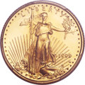 Modern Bullion Coins, 1999-W $5 Tenth-Ounce Gold Eagle, Unfinished Proof Dies, FS-401, MS70 PCGS....