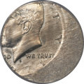 Errors, 1971-D 50C Kennedy Half -- Struck 30% Off Center on a Mexican 50Centavos Planchet -- MS64 PCGS....