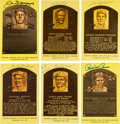 Autographs:Post Cards, 1970's-90's Baseball Hall of Fame Plaques Signed Lot of 150+....
