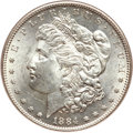Morgan Dollars, 1884-S $1 MS62 NGC. VAM-4D, R.6....