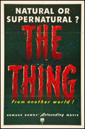 """Movie Posters:Science Fiction, The Thing from Another World (RKO, 1951). One Sheet (27"""" X 41"""").Science Fiction.. ..."""