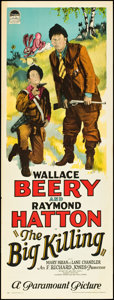 "Movie Posters:Comedy, The Big Killing (Paramount, 1928). Insert (14"" X 36""). Comedy.. ..."