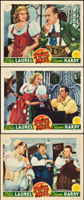 """Movie Posters:Comedy, Swiss Miss (MGM, 1938). Lobby Cards (3) (11"""" X 14""""). Comedy.. ...(Total: 3 Items)"""