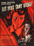 "Movie Posters:Horror, Eyes Without a Face (Lux Compagnie Cinématographique de France, 1960). French Affiche (23"" X 31.5""). Horror.. ..."