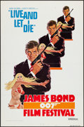 "Movie Posters:James Bond, James Bond Festival -- Live and Let Die (United Artists, R-1976). One Sheet (27"" X 41"") Flat Folded Style A. James Bond.. ..."