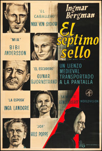 "The Seventh Seal (David Goldberg, 1957). Argentinean Poster (28.75"" X 43""). Foreign"