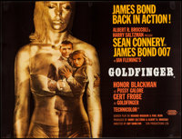 "Goldfinger (United Artists, 1964). British Quad (30"" X 40""). James Bond"
