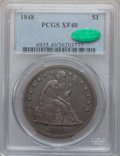 Seated Dollars, 1848 $1 XF40 PCGS. CAC....