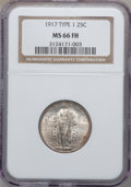 Standing Liberty Quarters, 1917 25C Type One MS66 Full Head NGC....