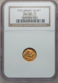 Commemorative Gold, 1922 G$1 Grant With Star MS66 NGC....